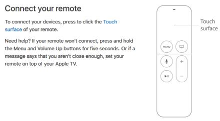 AppleTV fjernkontroll 4.generasjon